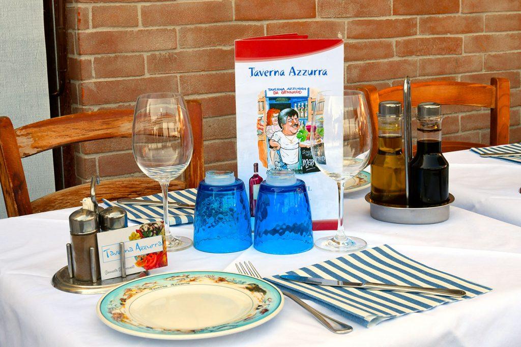 Taverna Azzurra Wine room